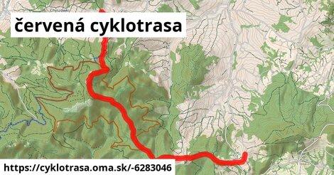 červená cyklotrasa