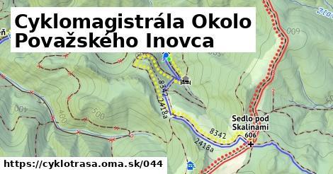 ilustračný obrázok k Cyklomagistrála Okolo Považského Inovca