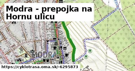 ilustračný obrázok k Modra - prepojka na Hornu ulicu