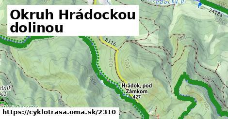 ilustračný obrázok k Okruh Hrádockou dolinou