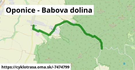 ilustračný obrázok k Oponice - Babova dolina