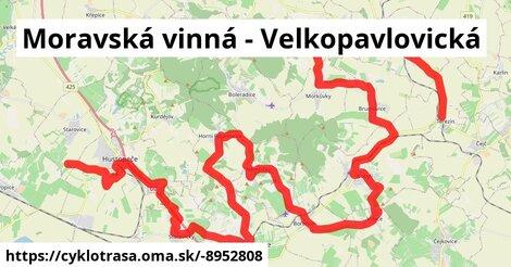 Moravská vinná - Velkopavlovická