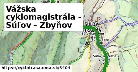 ilustračný obrázok k Vážska cyklomagistrála - Súľov - Zbyňov