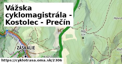 ilustračný obrázok k Vážska cyklomagistrála - Kostolec - Prečín