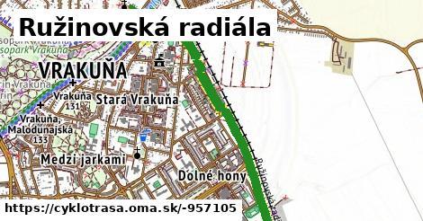 ilustračný obrázok k Ružinovská radiála