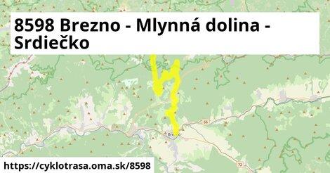 8598 Brezno - Mlynná dolina - Srdiečko