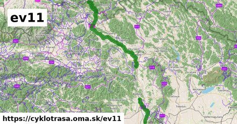 EuroVelo 11 - Trasa východnou Európou - sekcia Slovensko