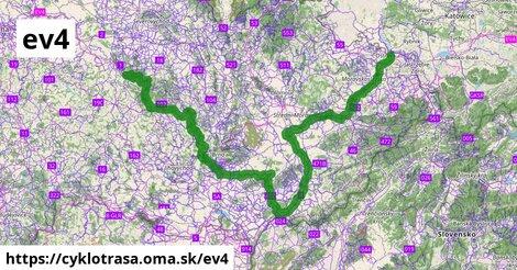 EuroVelo 4 - Trasa strednou Európou - sekcia Česká republika