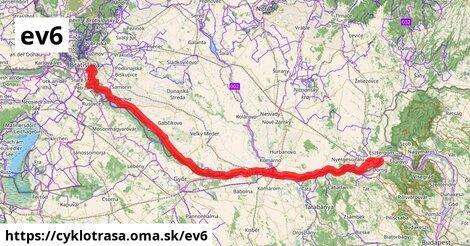 EuroVelo 6 - Atlantik-Čierne more - sekcia Slovensko - ľavý breh