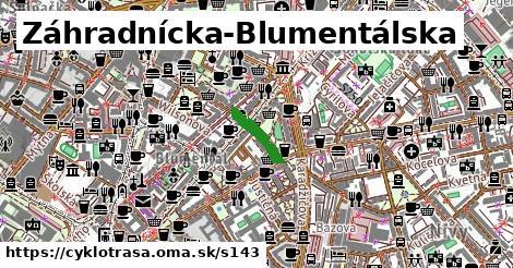 Cyklotrasa S143: Záhradnícka-Blumentálska