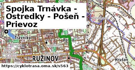 Spojka Trnávka - Ostredky - Pošeň - Prievoz