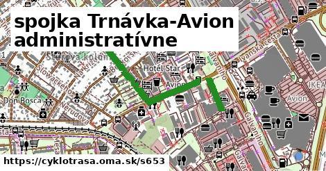 spojka Trnávka-Avion administratívne