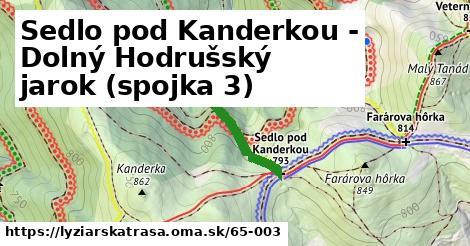 ilustračný obrázok k Sedlo pod Kanderkou - Dolný Hodrušský jarok (spojka 3)