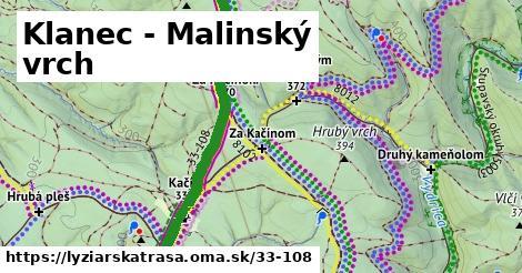 ilustračný obrázok k Klanec - Malinský vrch