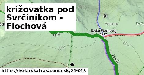 ilustračný obrázok k križovatka pod Svrčiníkom - Flochová
