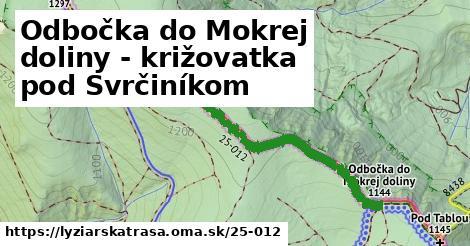 ilustračný obrázok k Odbočka do Mokrej doliny - križovatka pod Svrčiníkom