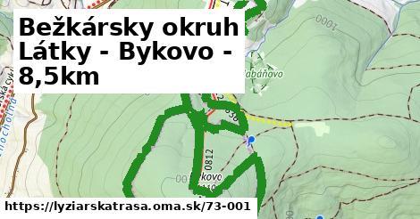 ilustračný obrázok k Bežkársky okruh Látky - Bykovo