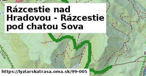 ilustračný obrázok k Rázcestie nad Hradovou - Rázcestie pod chatou Sova