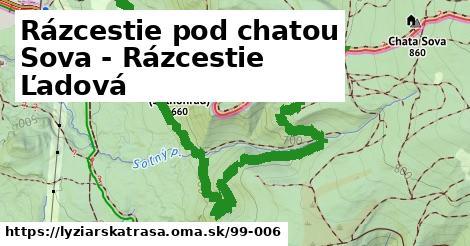 ilustračný obrázok k Rázcestie pod chatou Sova - Rázcestie Ľadová