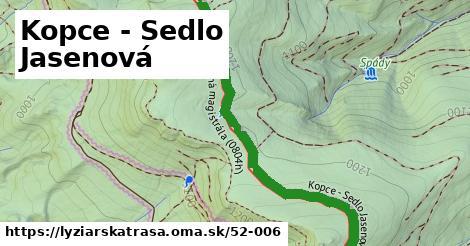 ilustračný obrázok k Kopce - Sedlo Jasenová