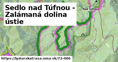 ilustračný obrázok k Sedlo nad Túfnou - Zalámaná dolina ústie