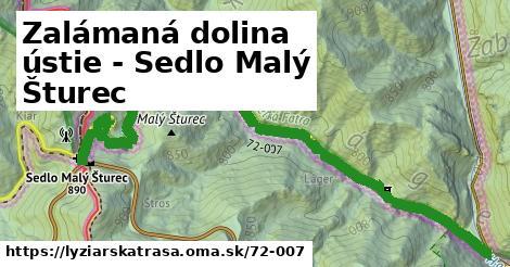 ilustračný obrázok k Zalámaná dolina ústie - Sedlo Malý Šturec