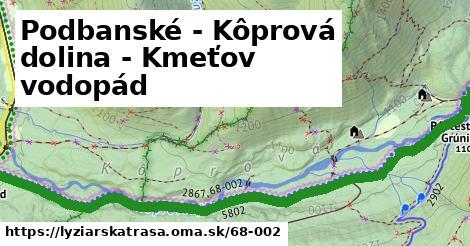 ilustračný obrázok k Podbanské - Kôprová dolina - Kmeťov vodopád