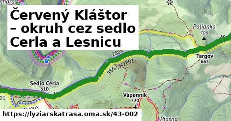 ilustračný obrázok k Červený Kláštor – okruh cez sedlo Cerla a Lesnicu