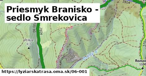 ilustračný obrázok k Priesmyk Branisko - sedlo Smrekovica