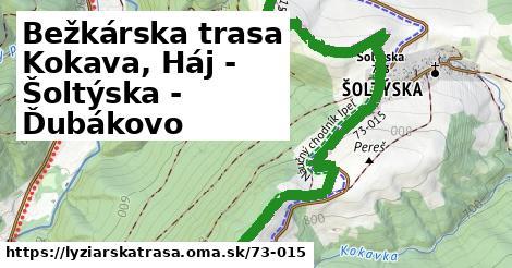 ilustračný obrázok k Bežkárska trasa Kokava, Háj - Šoltýska - Ďubákovo
