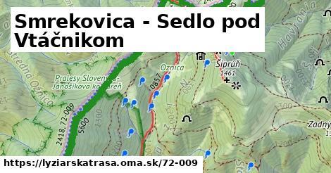ilustračný obrázok k Smrekovica - Sedlo pod Vtáčnikom