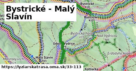 Bystrické - Malý Slavín