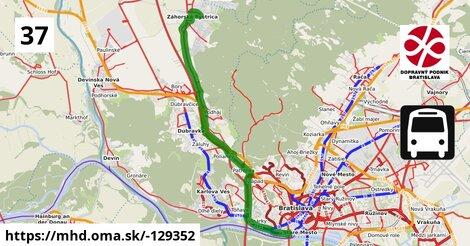 ilustračný obrázok k Bus 37: Most SNP => Záhorská Bystrica