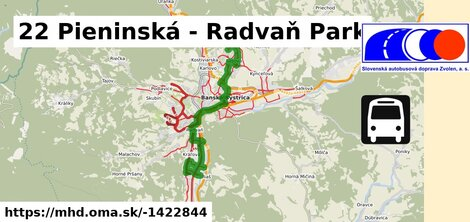 ilustračný obrázok k 22 Pieninská - Radvaň Park