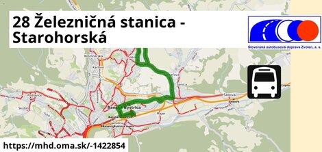 ilustračný obrázok k 28 Železničná stanica - Starohorská