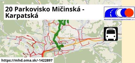 ilustračný obrázok k 20 Parkovisko Mičinská - Karpatská