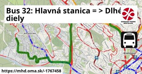 ilustračný obrázok k Bus 32: Hlavná stanica => Kuklovská