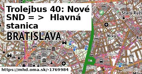 ilustračný obrázok k Trolejbus 210: Nové SND => Hlavná stanica