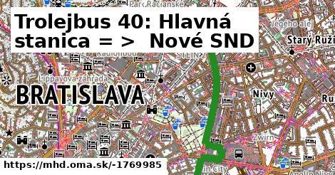 ilustračný obrázok k Trolejbus 210: Hlavná stanica => Nové SND