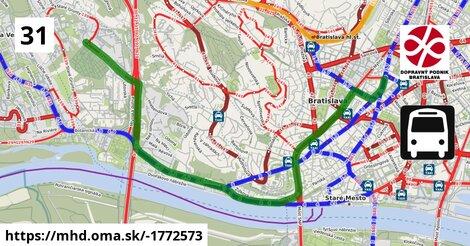 ilustračný obrázok k Bus 31: Blumentál => Cintorín Slávičie údolie