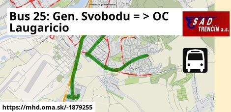 ilustračný obrázok k Bus 25: Gen. Svobodu, otoč => OC Laugaricio