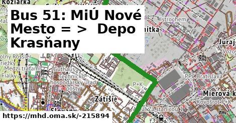 ilustračný obrázok k Bus 51: Trnavské mýto => Vozovňa Krasňany