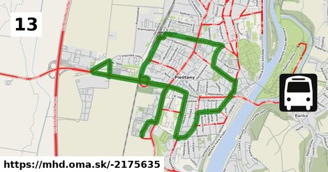 ilustračný obrázok k Bus 13: Adam Trajan II. => Adam Trajan II. (via Autobusová stanica)