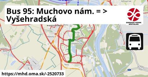 ilustračný obrázok k Bus 95: Muchovo nám. => Vyšehradská