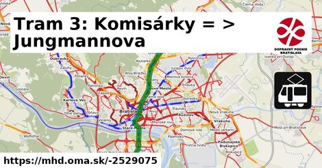ilustračný obrázok k Tram 3: Komisárky => Jungmannova