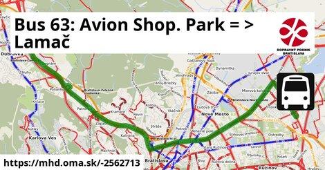 ilustračný obrázok k Bus 63: Avion Shopping Park => Lamač