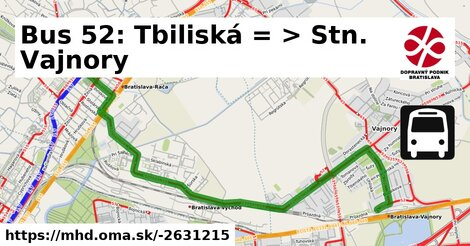 ilustračný obrázok k Bus 52: Tbiliská => Na pasekách