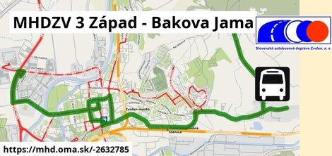 ilustračný obrázok k MHDZV 3 Západ - Bakova Jama