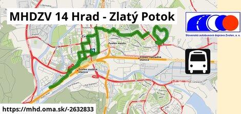 ilustračný obrázok k MHDZV 14 Hrad - Zlatý Potok