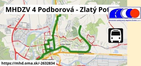 ilustračný obrázok k MHDZV 4 Podborová - Zlatý Potok